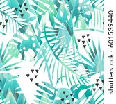 seamless tropical vector... | Shutterstock .eps vector #601539440