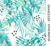 seamless tropical vector... | Shutterstock .eps vector #601539440
