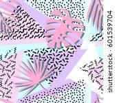 seamless tropical vector... | Shutterstock .eps vector #601539704