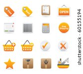 shopping icons  yellow14...