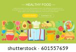 cooking collection  healthy... | Shutterstock .eps vector #601557659