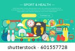 healthy lifestyle concept with... | Shutterstock .eps vector #601557728