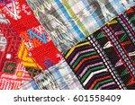 guatemalan textiles | Shutterstock . vector #601558409