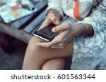 close up of women's hands... | Shutterstock . vector #601563344