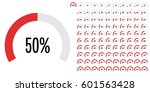 set of circle percentage... | Shutterstock .eps vector #601563428