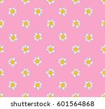 daisy pattern on pastel... | Shutterstock .eps vector #601564868