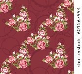seamless floral pattern with... | Shutterstock .eps vector #601567994
