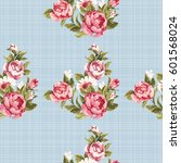 seamless floral pattern with... | Shutterstock .eps vector #601568024