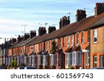 english row terraced house in... | Shutterstock . vector #601569743