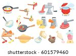 cooking process set. boil water ... | Shutterstock . vector #601579460