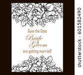 romantic invitation. wedding ...   Shutterstock .eps vector #601582490