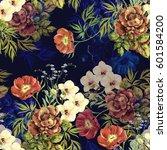 elegant bouquet watercolor....   Shutterstock . vector #601584200