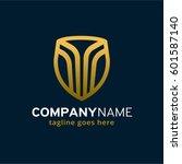 shield logo template design... | Shutterstock .eps vector #601587140