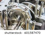 connecting rod attached to a... | Shutterstock . vector #601587470