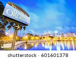 downtown orlando. city skyline. ... | Shutterstock . vector #601601378