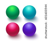 collection of colorful glossy... | Shutterstock .eps vector #601603544