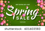 vector spring sale banner with  ... | Shutterstock .eps vector #601603583