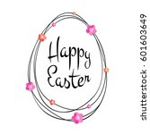 vector happy easter black... | Shutterstock .eps vector #601603649