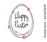 vector happy easter black... | Shutterstock .eps vector #601603649