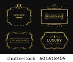 set of luxury labels.vintage... | Shutterstock .eps vector #601618409