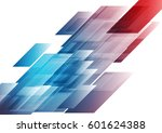 blue and red shiny hi tech... | Shutterstock .eps vector #601624388