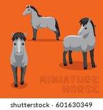 Horse Miniature Cartoon Vector...