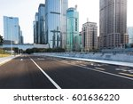 urban traffic with cityscape in ... | Shutterstock . vector #601636220