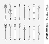 hipster arrow pattern vector... | Shutterstock .eps vector #601637918