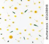 flowers composition. frame made ... | Shutterstock . vector #601638848