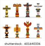 Native Totem Tower Vector...