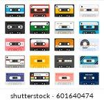 vintage cassette tape vector... | Shutterstock .eps vector #601640474
