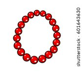 beads necklace isolated on... | Shutterstock .eps vector #601643630