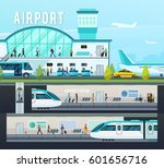 transport terminal compositions ... | Shutterstock .eps vector #601656716