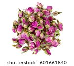 Dry Tea Rose Buds Isolated On...