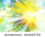 sunlight. abstract spring sky... | Shutterstock . vector #601665710