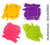 vector set abstract backgrounds ... | Shutterstock .eps vector #601665863