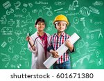 kids and education concept  ... | Shutterstock . vector #601671380