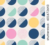 seamless pattern with circles | Shutterstock .eps vector #601672643
