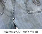 be careful  check your jeans... | Shutterstock . vector #601674140