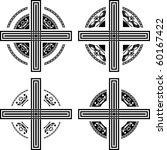 set of fantasy crosses. vector...   Shutterstock .eps vector #60167422