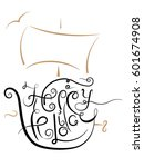 happy holiday. hand drawn... | Shutterstock .eps vector #601674908