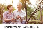 healthy asian senior couple... | Shutterstock . vector #601681016