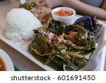 hawaiian food   lau lau | Shutterstock . vector #601691450