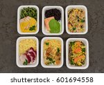 a variety of fast food in...   Shutterstock . vector #601694558