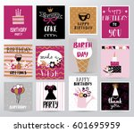 vector happy birthday card | Shutterstock .eps vector #601695959