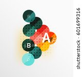 circle geometric abstract... | Shutterstock .eps vector #601699316