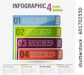 abstract business four steps... | Shutterstock .eps vector #601702550