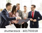 view at business partners...   Shutterstock . vector #601703318