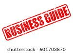 business guide red stamp text... | Shutterstock .eps vector #601703870