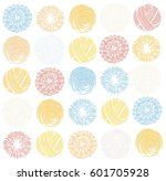 stylized round stamps balls of... | Shutterstock .eps vector #601705928